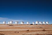 14 Antennas at the ALMA AOS