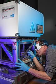 En af de fire guidestjerne lasere