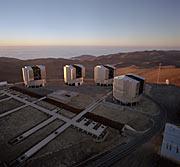 The VLT Array on the Paranal Mountain