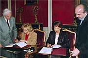 Signing of ESO/Chile ALMA agreement