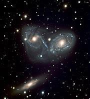 Cosmic Ballet or Devil's Mask - Galaxy Triplet NGC 6769-71 (VLT MELIPAL + VIMOS)