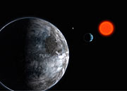 The Planetary System in Gliese 581 (artist's impression)