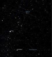 The Taurus and Horologium Constellations