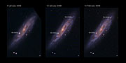 NGC 2770 and its 2 supernovae (annotated)