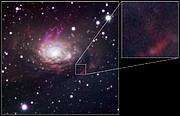 La galaxia Circinus y la posición de SN 1996cr