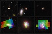 Midiendo los movimientos en tres galaxias distantes