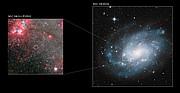 NGC 300 X-1 en la galaxia espiral NGC 300