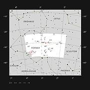 NGC 1365 en la constelación de Fornax