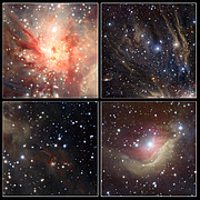 Extracts from the VISTA image of the Monoceros R2 star forming region