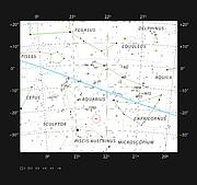 A galactic collision in the constellation of Aquarius