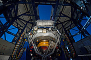 The VLT Survey Telescope observing on a moonlit night