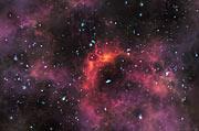Impresión artística de galaxias al final de la era de reionización