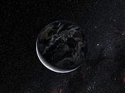 Paso de la sombra del planeta enano Eris durante la ocultación de Noviembre de 2010