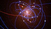 Simulación de la nube de gas aproximándose al agujero negro en el centro de la Vía Láctea