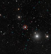 Donkere sterrenstelsels voor het eerst waargenomen (met inschriften)