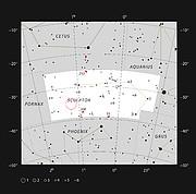 De positie van quasar HE 0109-3518