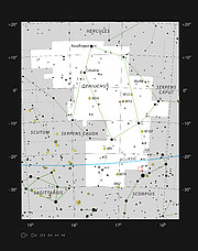 IRAS 16293-2422 in the constellation of Ophiuchus