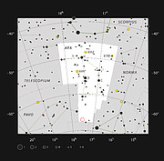 The globular star cluster NGC 6362 in the constellation of Ara (The Altar)