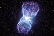 Taiteilijan näkemys kvasaarin SDSS J1106+1939 valtavasta ulosvirtauksesta