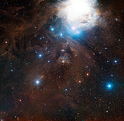 Wide-field view of part of Orion in visible light