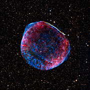 The remnant of the supernova SN 1006 seen at many different wavelengths