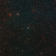 Wide-field view of the sky around the young star HD 100546