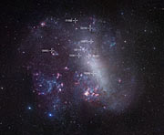 Map of the Large Magellanic Cloud