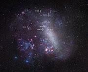 Übersichtsaufnahme der Großen Magellanschen Wolke
