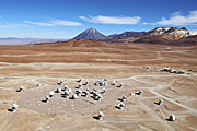 ALMA array from the air