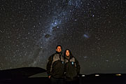 The Crown Prince Couple of Denmark admire the night skies of  ESO's Paranal Observatory
