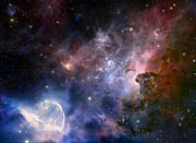 Screenshot from IMAX® 3D movie Hidden Universe showing the Carina Nebula