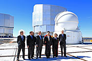 Chilean President visits Paranal to announce the transfer of the land for the E-ELT