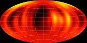 Mapa oblačných struktur v atmosféře hnědého trpaslíka Luhman 16B vytvořená na základě pozorování dalekohledu VLT