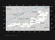 A nebulosa planetária Abell 33 na constelação da Hidra