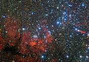 O colorido enxame estelar NGC 3590