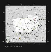 Gum 15 in the constellation of Vela