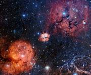 Et vidvinkel kik på det stjernedannende område Gum 15