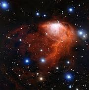 La nube de formación estelar RCW 34