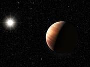Impresión artística de un gemelo de Júpiter orbitando la estrella HIP 11915