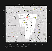 El cúmulo estelar IC 4651 en la constelación de Ara