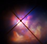 Los alrededores de VY Canis Majoris vistos por el instrumento SPHERE, instalado en el VLT.