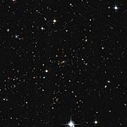 Vista en luz visible de un cúmulo de galaxias distantes, descubiertas por el sondeo XXL