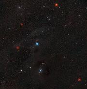 El cielo que rodea a la nebulosa de  reflexión IC 2631