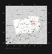 La estrella doble evolucionada IRAS08544-4431 en la constelación de Vela (las velas)