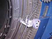 Close-up of the altitude encoder on UT1