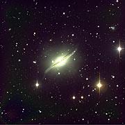 Galaxy with Warped Dust Lane
