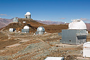 A Glimpse into the Past — Then and Now at La Silla Observatory (present-day image)