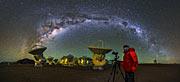 Milchstraßen-Bögen über ALMA