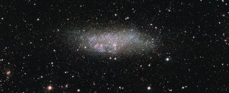 La galaxie Wolf-Lundmark-Melotte par OmegaCAM