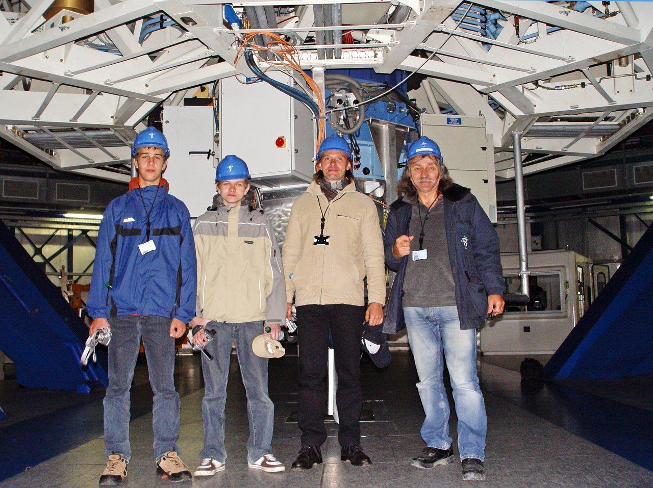 Catch a Star 2007 winners visit Paranal